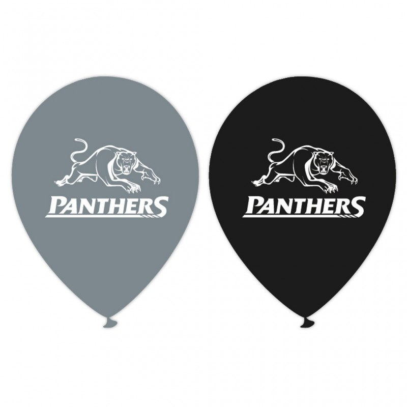 NRL Penrith Panthers Latex Balloons (Pack of 5)   Rugby League NRL Balloons Party Supplies