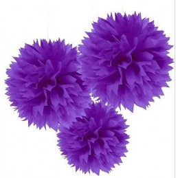 Purple Tissue Pom Poms...