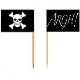 Pirate Flag Cupcake Picks...