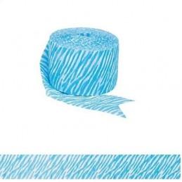 Blue Stripes Crepe Streamer