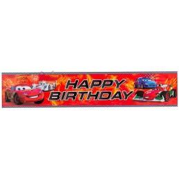 Cars 2 Happy Birthday Banner