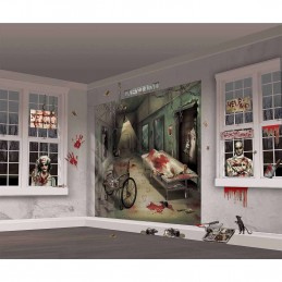 Halloween Asylum Wall Decorating Kit (32 Piece)