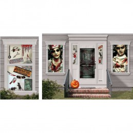 Halloween Asylum Scene Setter Decoration Kit