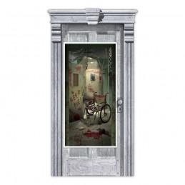 Halloween Asylum Corridor Door Cover