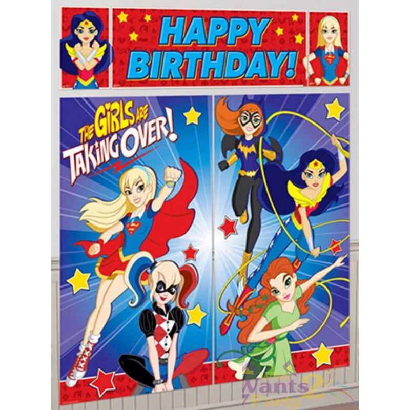 8 Sheets of Superhero Girls Stickers Featuring Wonder Woman Superhero Party Supplies Batgirl and More Supergirl DC Super Hero Girls Stickers Party Favors Bundle