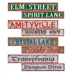 Halloween Street Sign Decorations (Pack of 4)