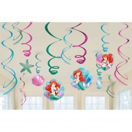 Ariel The Little Mermaid Swirl Decorations (12)