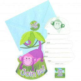 Jungle Animals Party Invitations (8)