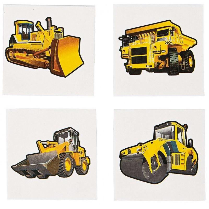 Construction Zone Tattoos (Set of 36)