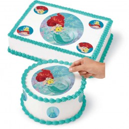 Ariel The Little Mermaid Edible Icing Cake Decoration