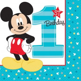 Mickey Mouse 1st Birthday Large Napkins (16)