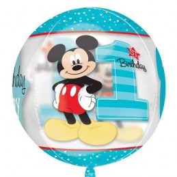 Mickey Mouse 1st Birthday Orbz Balloon