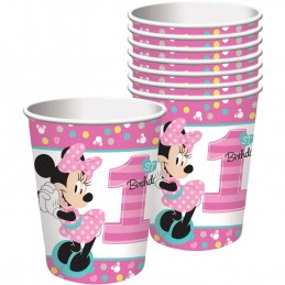 Minnie Mouse 1st Birthday Paper Cups (Pack of 8)
