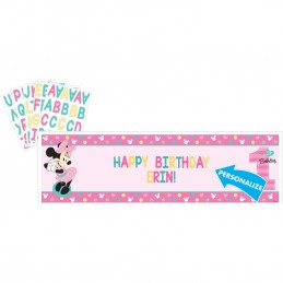 Minnie Mouse 1st Birthday Personalised Banner