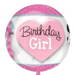 Minnie Mouse 1st Birthday Orbz Balloon