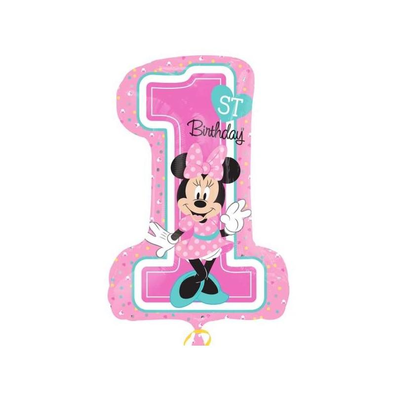 Minnie Mouse 1st Birthday Supershape Balloon