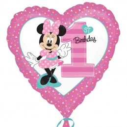Minnie Mouse 1st Birthday Foil Balloon