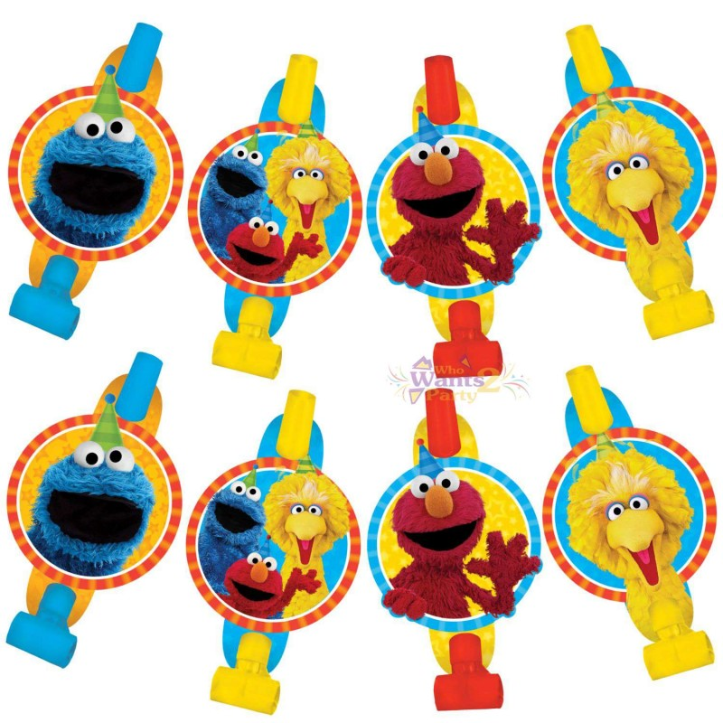 Sesame Street Party Blowers (Pack of 8)