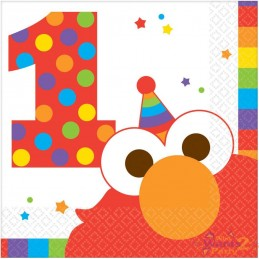 Elmo 1st Birthday Small Napkins (Pack of 16)