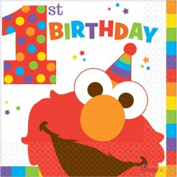 Elmo 1st Birthday Large Napkins (Pack of 16)