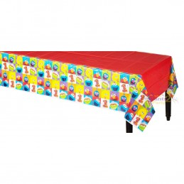 Elmo 1st Birthday Plastic Tablecloth