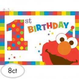 Elmo 1st Birthday Party Invitations (Pack of 8)
