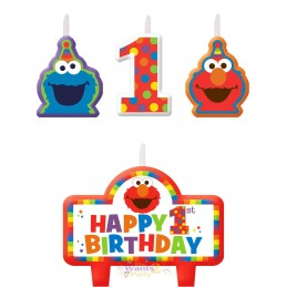 Elmo 1st Birthday Candles (Set of 4)