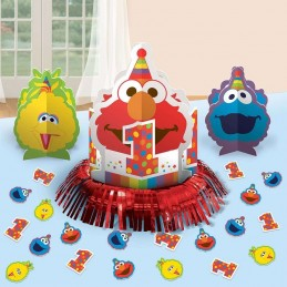 Elmo 1st Birthday Table Decorating Kit (23 Pieces)