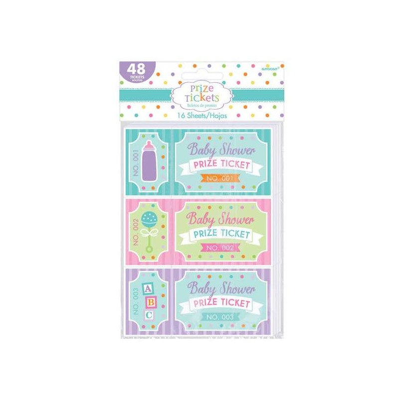 Baby Shower Prize Tickets Game (Set of 48)