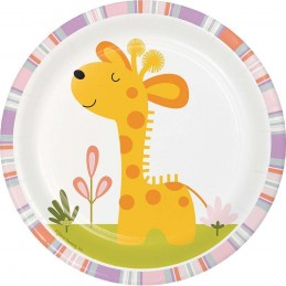 Happy Jungle Giraffe Small Plates (Pack of 8)