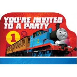 Thomas the Tank Engine Party Invitations (Pack of 8)