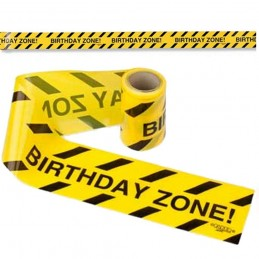 Birthday Zone Caution Party Tape