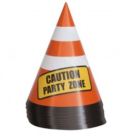 Construction Party Cone Centerpieces (Pack of 8)