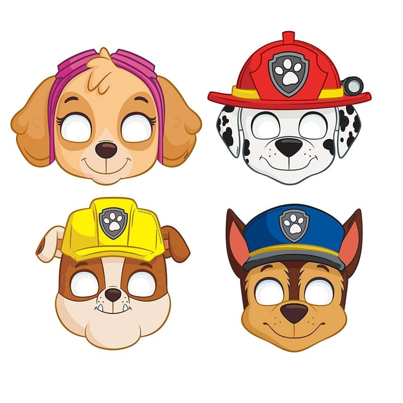 Paw Patrol Masks (Pack of 8)