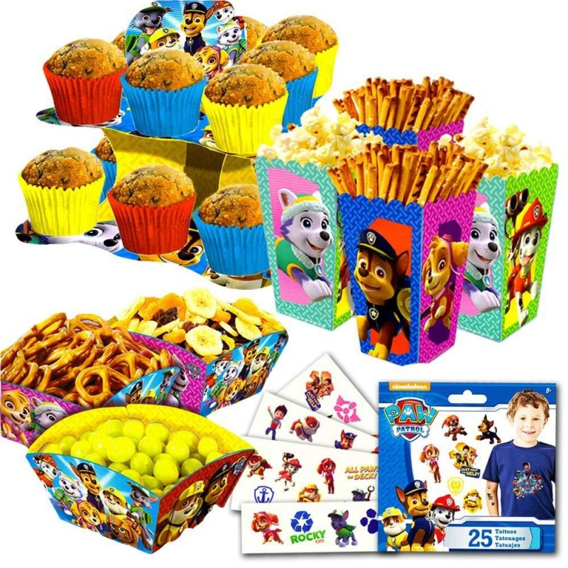 Paw Patrol Cupcake Stand & Snack Boxes