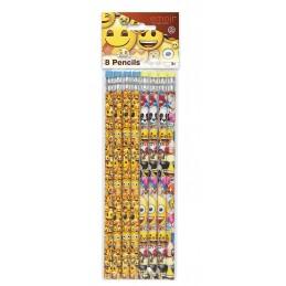 Emoji Pencils (Pack of 8) | Emoji Party Supplies