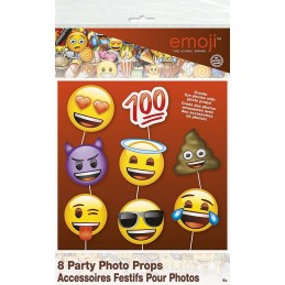 Emoji Photo Booth Props (Pack of 8)