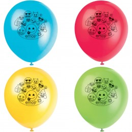 Emoji Latex Balloons (Pack of 8)