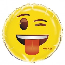 Emoji Wink Smiley Face Foil Balloon