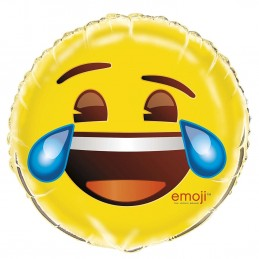Emoji Crying Smiley Face Foil Balloon