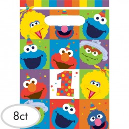Elmo 1st Birthday Loot Bags (Pack of 8)