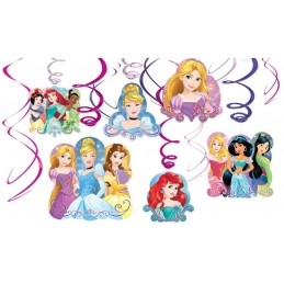 Disney Princess Dream Big Swirl Decorations (Set of 12)