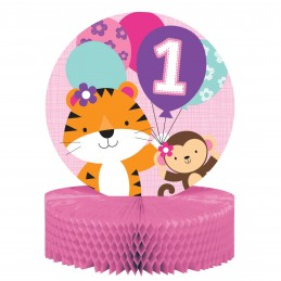 Girls Jungle 1st Birthday Centrepiece