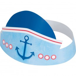 Nautical 1st Birthday Party Hats (Pack of 6)