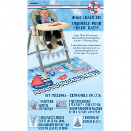 Nautical 1st Birthday High Chair Decorating Kit