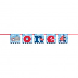 Nautical 1st Birthday Party Banner