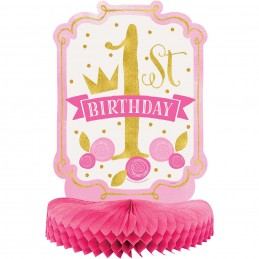 Pink & Gold 1st Birthday Party Centrepiece