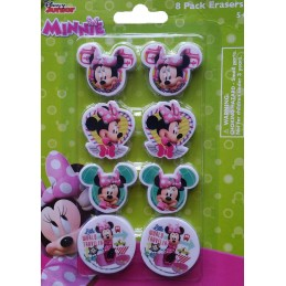 Minnie Mouse Erasers (Set of 8)