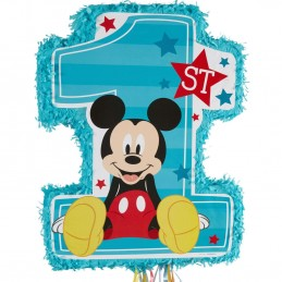 Mickey Mouse 1st Birthday Pull String Pinata