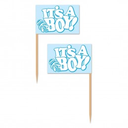 It's a Boy Cupcake Picks (Pack of 50)
